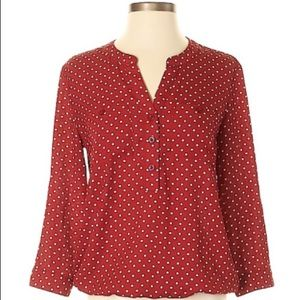 Red and white Polka Dot Blouse